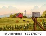 vector illustration of rural...   Shutterstock .eps vector #632178740