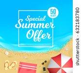 special summer offer 50  off | Shutterstock .eps vector #632183780