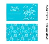 traveling business card... | Shutterstock .eps vector #632185049