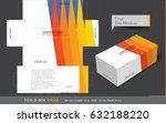 tissue box template concept ... | Shutterstock .eps vector #632188220