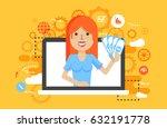 stock vector illustration woman ...   Shutterstock .eps vector #632191778
