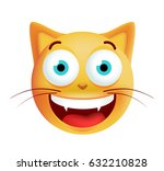 cute very happy emoticon on... | Shutterstock .eps vector #632210828