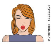 retro woman icon | Shutterstock .eps vector #632211629
