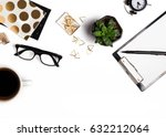 stylish accessories on the... | Shutterstock . vector #632212064