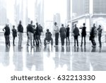 abstract image of people in the ... | Shutterstock . vector #632213330
