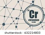chromium chemical element. sign ... | Shutterstock .eps vector #632214803