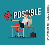 cool vector businesswoman flat... | Shutterstock .eps vector #632218088
