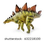 stegosaurus  genus of armored... | Shutterstock . vector #632218100