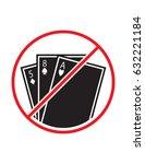 gambling not allowed black red... | Shutterstock .eps vector #632221184