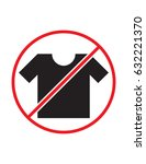 t shirt not allowed black red... | Shutterstock .eps vector #632221370