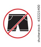 short pants not allowed black... | Shutterstock .eps vector #632221400