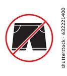 short pants not allowed black... | Shutterstock .eps vector #632221400