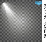 vector floodlights with a glare.... | Shutterstock .eps vector #632222633