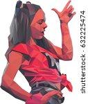 portrait of a woman in low... | Shutterstock .eps vector #632225474