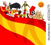 spain background design.... | Shutterstock .eps vector #632226170