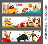 spain banners design. spanish...   Shutterstock .eps vector #632226389