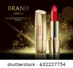 fashion cosmetic lipstick ads... | Shutterstock .eps vector #632227754