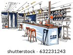 bar sketch | Shutterstock .eps vector #632231243