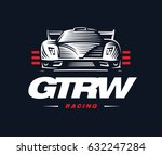 sport car logo on dark... | Shutterstock . vector #632247284
