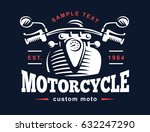 motorcycle logo illustration.... | Shutterstock . vector #632247290