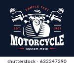 motorcycle logo illustration....   Shutterstock . vector #632247290
