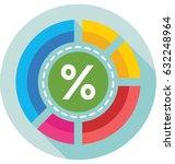 percentage vector icon   Shutterstock .eps vector #632248964