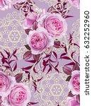 seamless floral pattern. a... | Shutterstock . vector #632252960