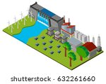 dam and power station in 3d