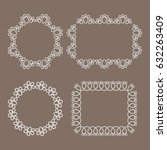 vector realistic lacy design... | Shutterstock .eps vector #632263409