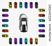 set of various top view  sport... | Shutterstock . vector #632264360