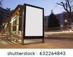 blank advertisement in a bus... | Shutterstock . vector #632264843