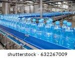 conveyor for bottling water... | Shutterstock . vector #632267009