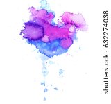 colorful abstract watercolor... | Shutterstock .eps vector #632274038