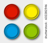 web round button for website or ... | Shutterstock . vector #632282546