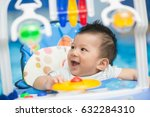 portrait of a happy baby... | Shutterstock . vector #632284310