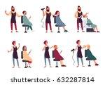 set of different hairdresser.... | Shutterstock .eps vector #632287814