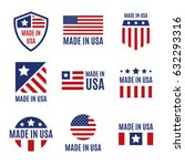 Vector Set Of Made In The Usa...