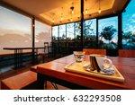 coffee cup in coffee shop. | Shutterstock . vector #632293508