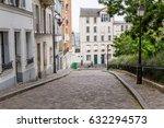 paris street in the montmartre... | Shutterstock . vector #632294573