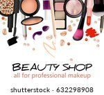 beauty shop business card... | Shutterstock .eps vector #632298908
