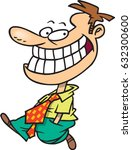 cartoon man walking with a big... | Shutterstock .eps vector #632300600