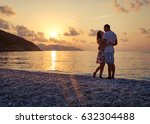 young couple in love standing... | Shutterstock . vector #632304488
