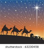 classic three magic scene and... | Shutterstock .eps vector #63230458