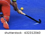 field hockey players control... | Shutterstock . vector #632312060