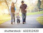 happy young mixed race ethnic... | Shutterstock . vector #632312420