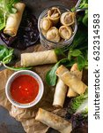 Fried Spring Rolls With Red...