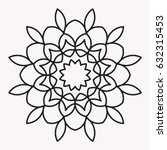 Stock vector simple mandala shape for coloring vector mandala floral flower oriental book page outline 632315453