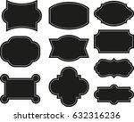 vector set vintage labels and... | Shutterstock .eps vector #632316236