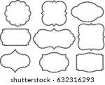 vector set vintage labels and... | Shutterstock .eps vector #632316293