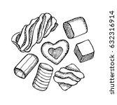 marshmallow vector illustration.... | Shutterstock .eps vector #632316914